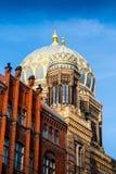 La nouvelle synagogue est la synagogue principale à Berlin, Allemagne Photographie stock libre de droits