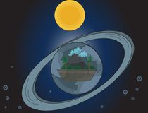 La nouvelle terre illustration stock