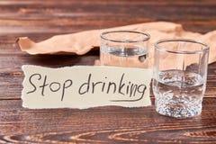 La nouvelle vie sans boire d'alcool Image stock