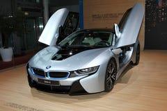La nouvelle voiture de sport de BMW i8 Photo libre de droits