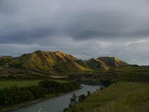 La Nouvelle Zélande 7 - coucher du soleil Image libre de droits