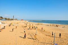 La Nova Icaria Beach, in Barcelona, Spain Stock Photography