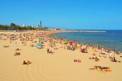 La Nova Icaria Beach, in Barcelona, Spain Royalty Free Stock Images