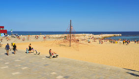 La Nova Icaria Beach, in Barcelona, Spain Royalty Free Stock Photos
