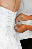 La novia antes de la ceremonia Fotos de archivo libres de regalías