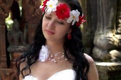 La novia en la isla Samui Foto de archivo