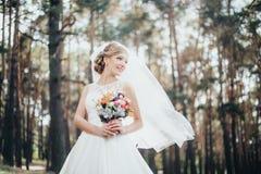 La novia en un vestido blanco imágenes de archivo libres de regalías