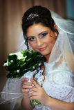 La novia en un vestido blanco Imagen de archivo libre de regalías