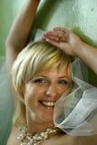 La novia feliz fotos de archivo libres de regalías