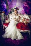 La novia floreciente Imágenes de archivo libres de regalías