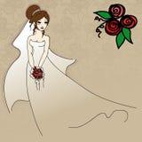 La novia joven Stock de ilustración