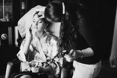 La novia que tiene compone Foto de archivo libre de regalías