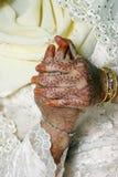 La novia ruega Foto de archivo libre de regalías