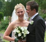 La novia y el novio 3 Foto de archivo libre de regalías