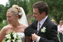 La novia y el novio 4 Imagen de archivo libre de regalías