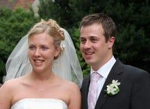 La novia y el novio fotos de archivo libres de regalías