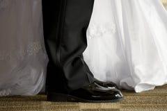 La novia y el novio imagen de archivo libre de regalías