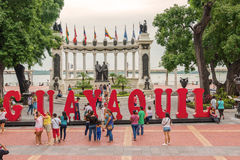 La nrotunda monument at malecon 2000 in Guayaquil, Ecuador. Stock Photography