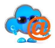 la nube 3d tiene una dirección de correo electrónico Foto de archivo libre de regalías