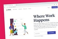 La nube floja basó el homepage de la página web de la herramienta de la colaboración del equipo y de la plataforma de la web libre illustration