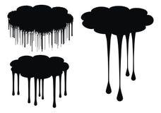 la nube gotea la ilustración del vector Fotografía de archivo