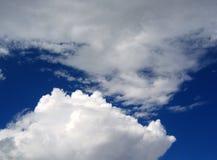La nube incontra la nube Fotografia Stock Libera da Diritti