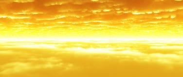 La nube mette a strati al crepuscolo Fotografia Stock