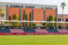 La Nucia, Spain, February 16, 2018: Sport center Ciutat Esportiva Camilo Cano in La Nucia, Spain. Outstanding sport center with lot of facilities and different Stock Photography