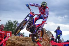 Action at the Spanish National Trial Championship 2018 Stock Photos