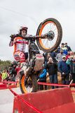 Toni Bou at Spanish National Trial Championship Royalty Free Stock Photos