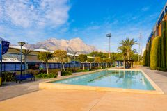 La Nucia, Spanje, 16 Februari, 2018: Sportcentrum Ciutat Esportiva Camilo Cano in La Nucia, Spanje Royalty-vrije Stock Fotografie