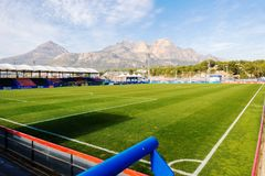 La Nucia, Spanje, 16 Februari, 2018: Sportcentrum Ciutat Esportiva Camilo Cano in La Nucia, Spanje Royalty-vrije Stock Afbeeldingen