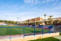 La Nucia, Spanje, 16 Februari, 2018: Sportcentrum Ciutat Esportiva Camilo Cano in La Nucia, Spanje Stock Afbeelding