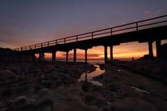La nue Perouse Sydney d'île de coucher du soleil Images stock