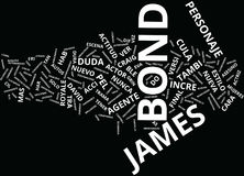 La Nueva Cara De James Bond Text Background Word Cloud Concept vector illustration