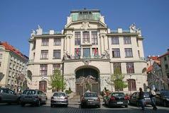 La nueva ciudad Hall Nova Radnice es asiento del alcalde del Ayuntamiento de Praga, de Praga y de otros departamentos de la autor fotos de archivo libres de regalías