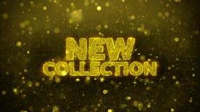 La nueva colección desea la tarjeta de felicitaciones, invitación, fuego artificial de la celebración