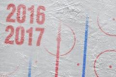 La nueva estación de hockey 2016-2017 años Fotos de archivo libres de regalías