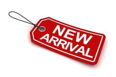 La nueva etiqueta de la llegada, 3d rinde Fotos de archivo libres de regalías