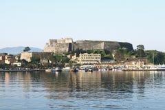 La nueva fortaleza en la isla de Corfú Foto de archivo libre de regalías