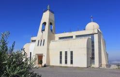 La nueva iglesia de Maronite en Nazaret Fotografía de archivo