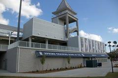 La nueva puerta de la entrada en Hammond Stadium imagen de archivo
