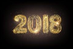 La nueva tarjeta feliz de 2018 años Imagen de archivo libre de regalías