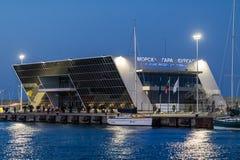 La nueva terminal de viajeros en Burgas Foto de archivo