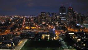 La nuit 2017 aérienne du Colorado Denver July 4K inspirent 2 clips vidéos