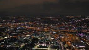 La nuit 2017 aérienne du Colorado Denver July 4K inspirent 2 banque de vidéos