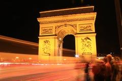 La nuit Arc de Triomphe Image libre de droits