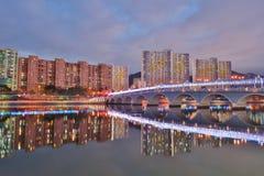 la nuit chez Sha Tin Festive Lighting photo stock
