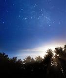 La nuit contacte le jour Image libre de droits
