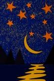 La nuit dans le Golfe images libres de droits